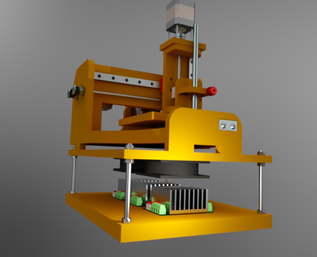 Le projet 4L1C3, micro-cnc format A4 Al810