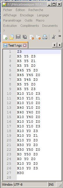 Le projet 4L1C3, micro-cnc format A4 Gcode10