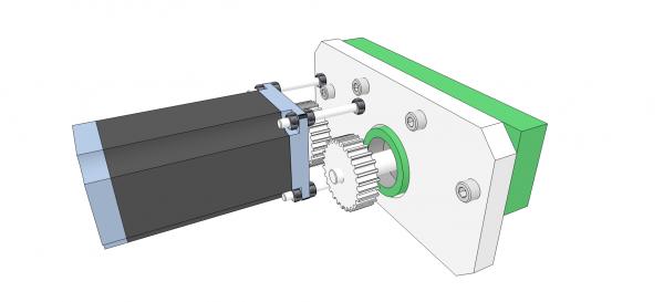 Utilisation simplifiée d'un moteur pas à pas Motori10