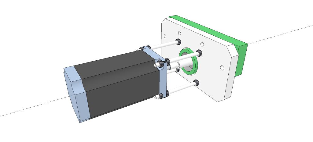 Motorisation numérique d'une table de fraiseuse S110