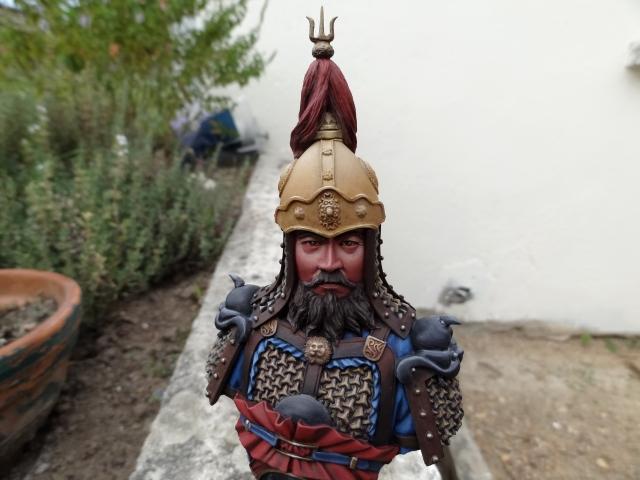 Fin de peinture du Buste Linjos General epoque Tang Tang1110