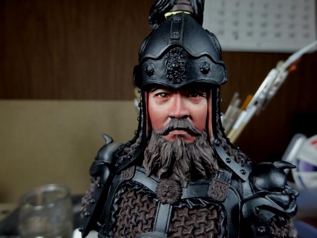 Fin de peinture du Buste Linjos General epoque Tang Tang210