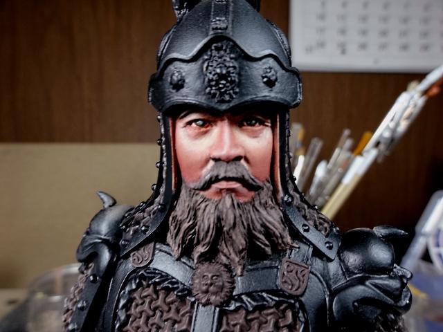 Fin de peinture du Buste Linjos General epoque Tang Tang310