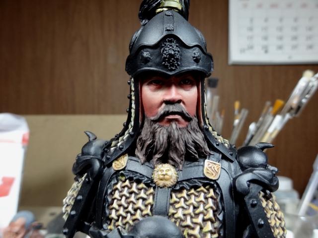 Fin de peinture du Buste Linjos General epoque Tang Tang410