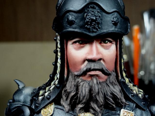 Fin de peinture du Buste Linjos General epoque Tang Tang610