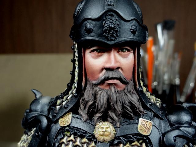 Fin de peinture du Buste Linjos General epoque Tang Tang710