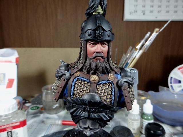 Fin de peinture du Buste Linjos General epoque Tang Tang810