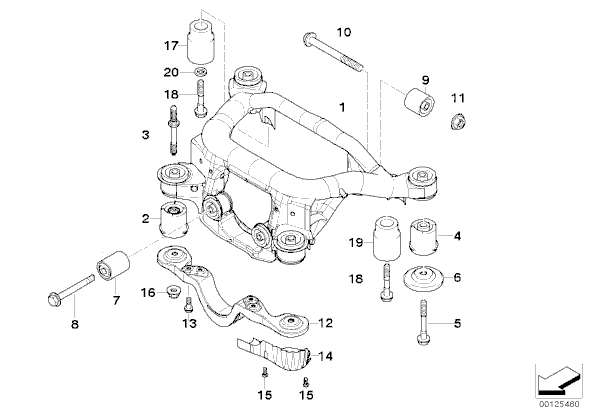 [Loue] pour [E39 525TDS Touring] Extracteur des Silentblocs du Berceau Arrière 18110