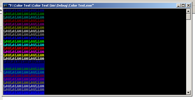 Adding Color Text to C++ Console Application Color_10