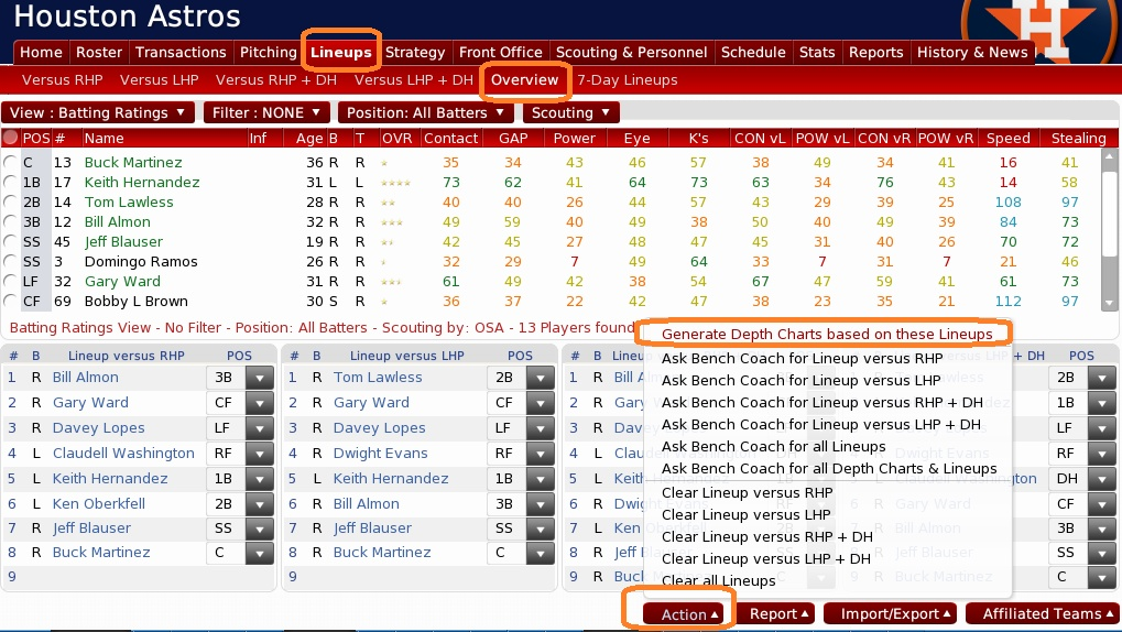 BESOIN D'AIDE AVEC OOTP? Lineup10
