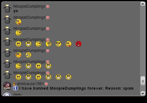 This is your last warning (XAT chat spam) Spamms10