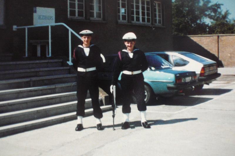 Service militaire 1986 Patinet M, Zeebruges fusilier marin P1070417