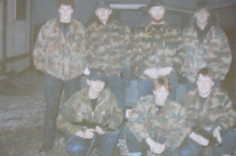 Service militaire 1986 Patinet M, Zeebruges fusilier marin P1070421