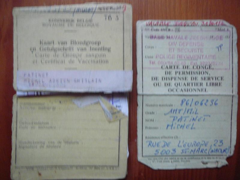 Carte de congé et certificat de vaccination 1986 P1080212