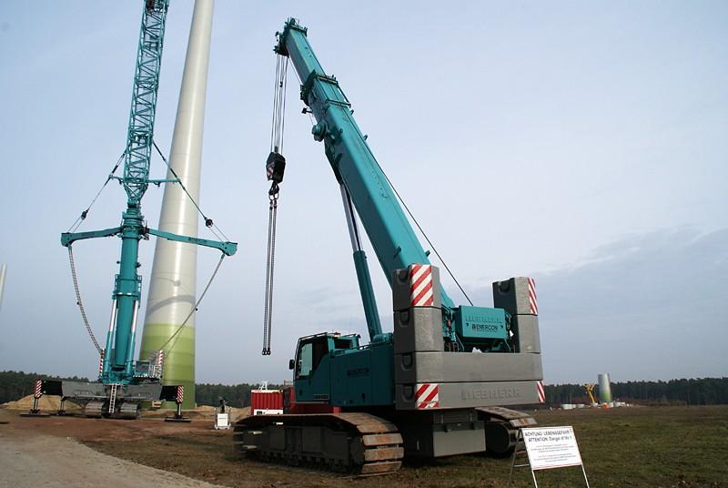 Les grues de ENERCON (Allemagne) Dsc01310