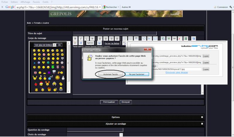 Comment mettre un screen Bob410