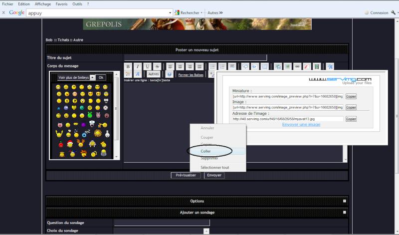 Comment mettre un screen Bob510