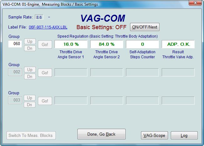probléme AFS en utilisant mon cable Vag Basic-10