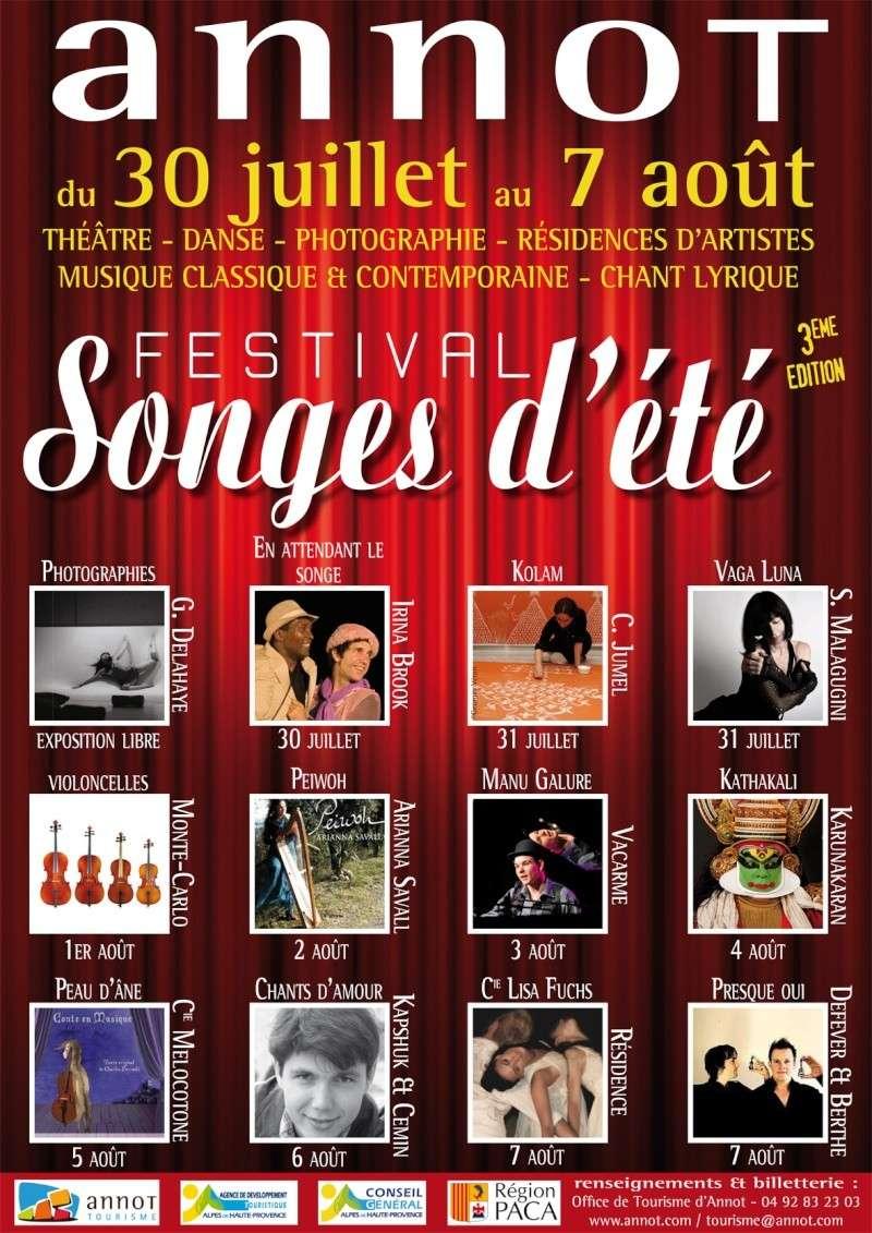 Festival Songes d'été - 30 juillet au 7 août 2011 Affich12