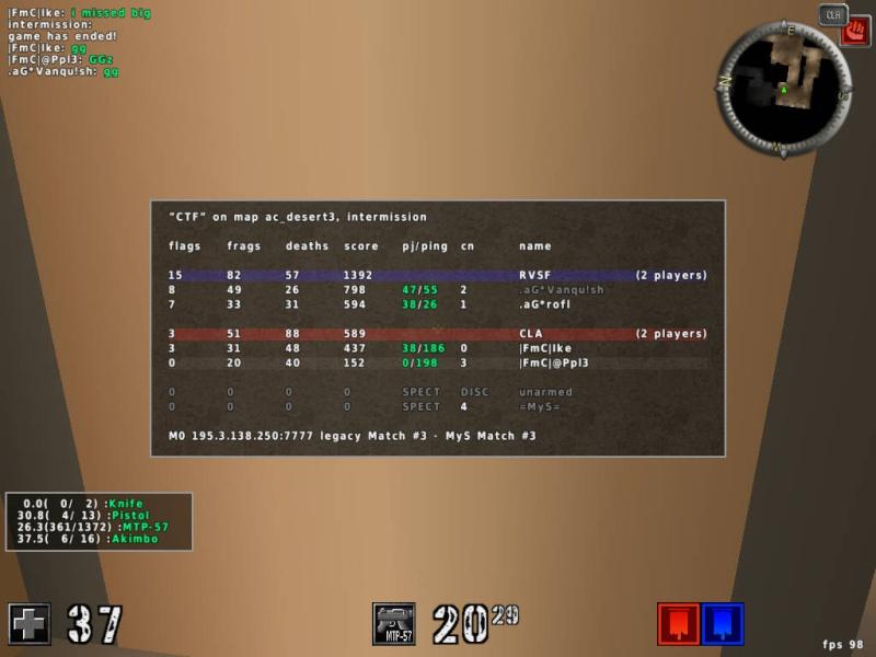 |FmC| vs .aG* [L] 0:2 20120431