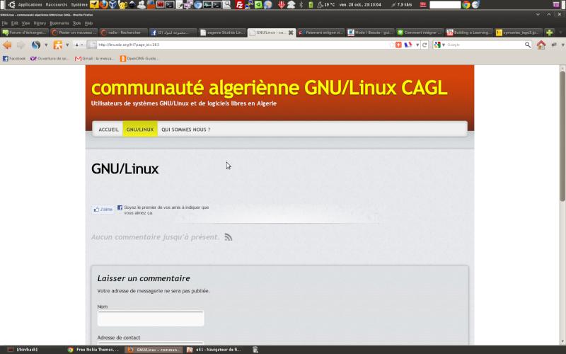 CAGL (Communauté Algérienne des utilisateurs GNU/Linux) réservé au fans du monde de Linux et du logiciel libre. Gnu10