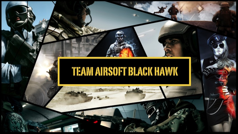 Airsoft black hawk