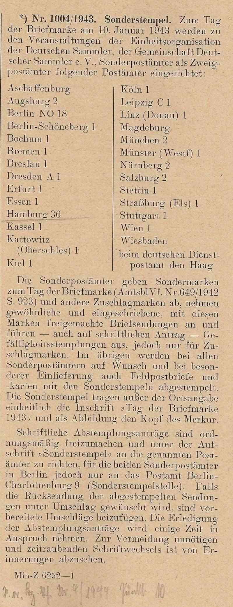 Belege / Sonderstempel Deutsches Reich 1943 Scan1007