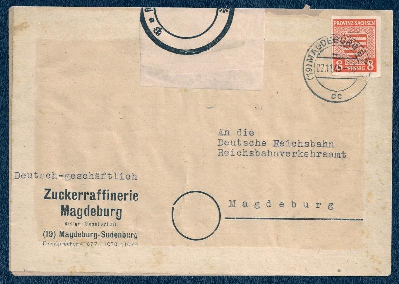 Provinz Sachsen -Sowjetische Besatzungszone Scann535