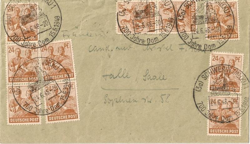 Allgemeine Ausgaben der Sowjetischen Besatzungszone Scann544