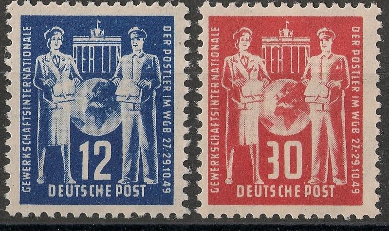 DDR - Briefmarkenausgaben 1949  Scann713