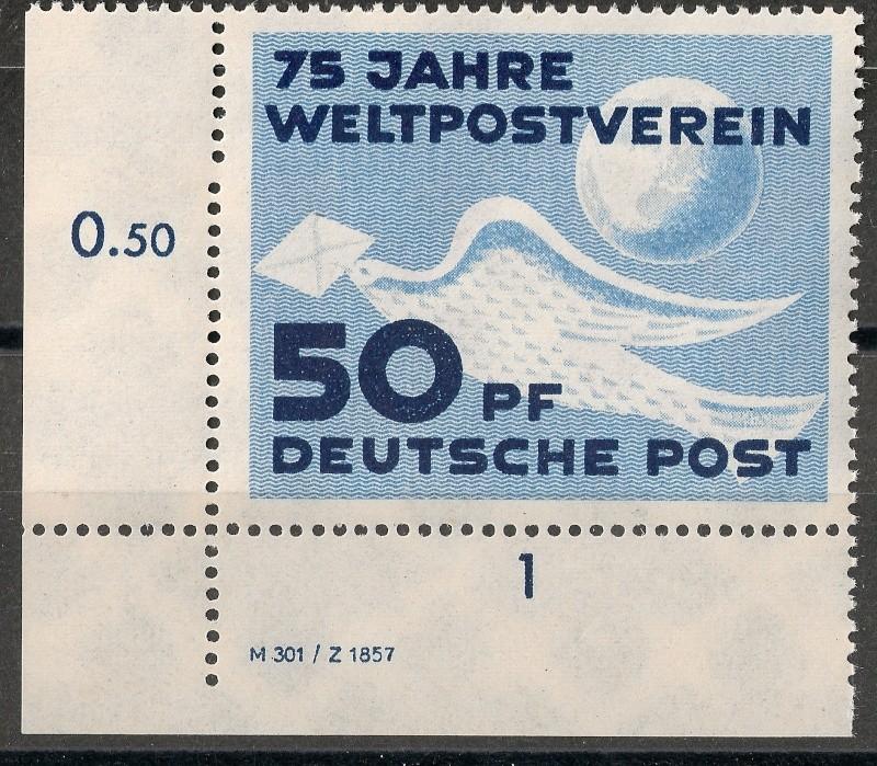 DDR - Briefmarkenausgaben 1949  Scann721