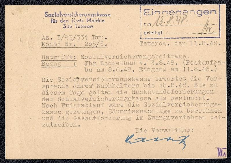 OPD Schwerin 1945 - 1952 - Seite 13 Scann742