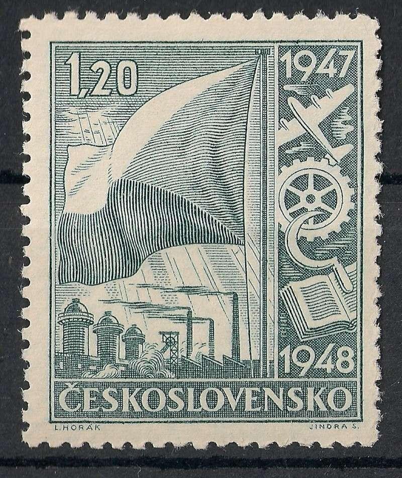 Tschechoslowakei - Briefmarkenausgaben 1947 Scann754