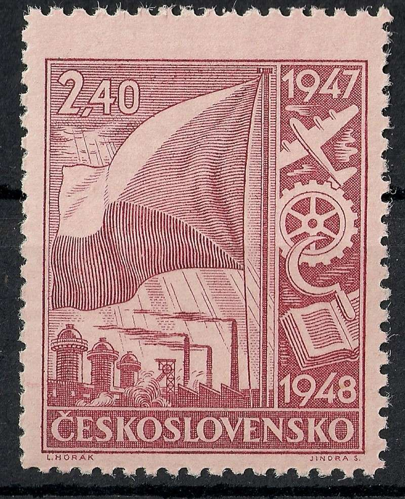 Tschechoslowakei - Briefmarkenausgaben 1947 Scann755