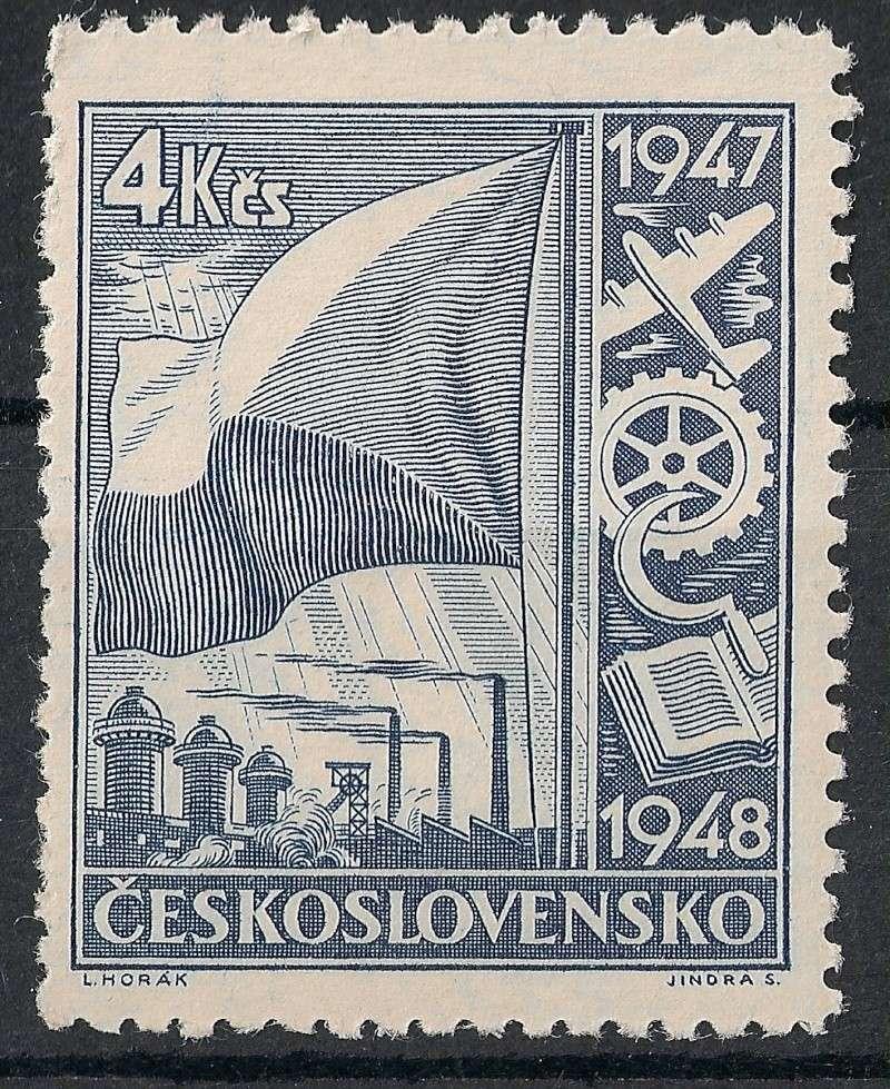 Tschechoslowakei - Briefmarkenausgaben 1947 Scann756