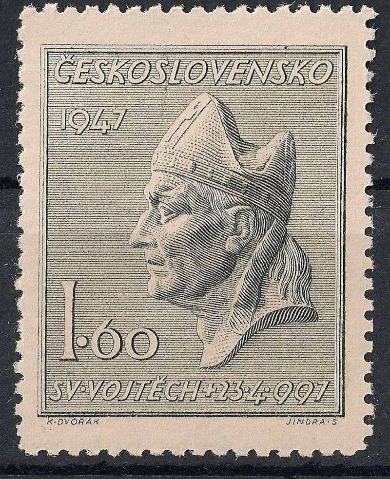 Tschechoslowakei - Briefmarkenausgaben 1947 Scann757