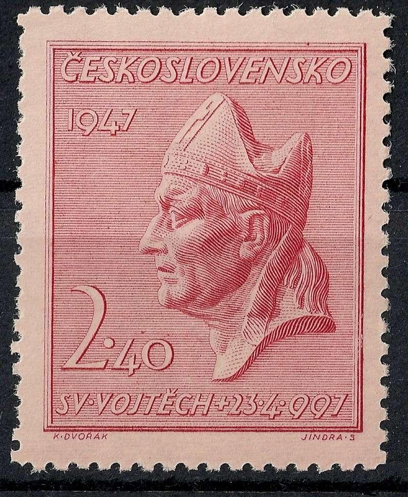 Tschechoslowakei - Briefmarkenausgaben 1947 Scann758