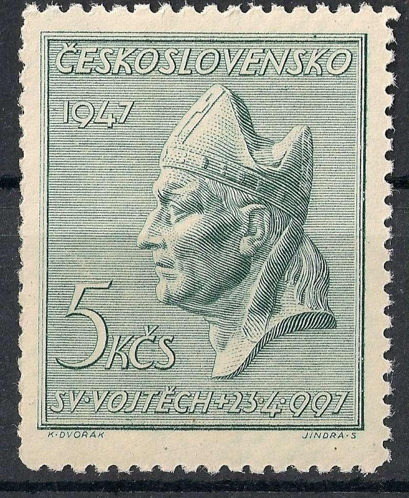 Tschechoslowakei - Briefmarkenausgaben 1947 Scann759