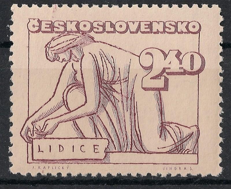 Tschechoslowakei - Briefmarkenausgaben 1947 Scann762