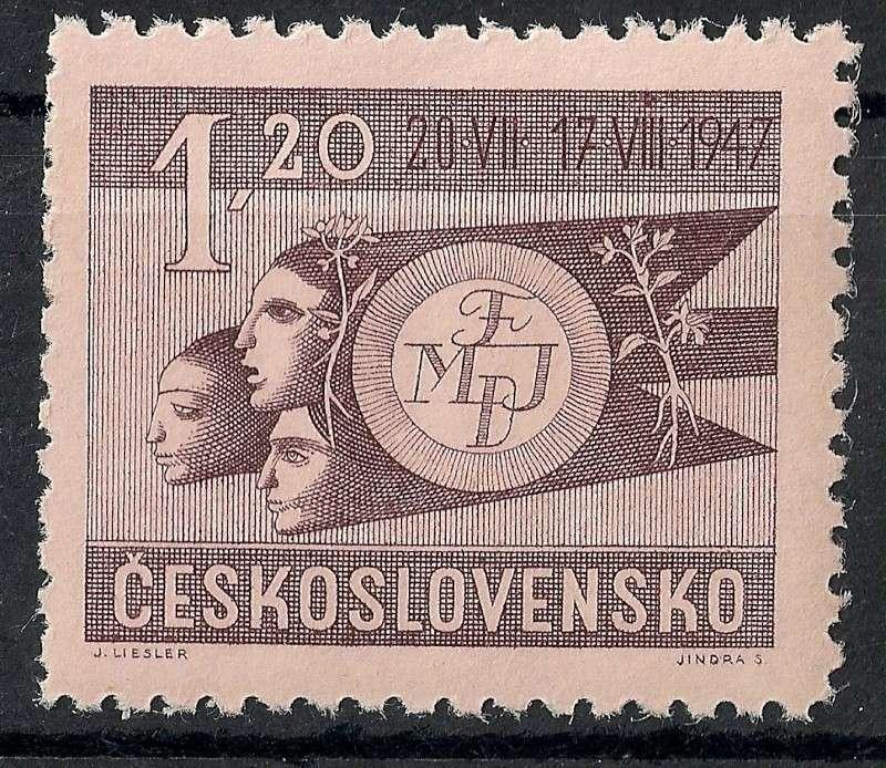 Tschechoslowakei - Briefmarkenausgaben 1947 Scann763