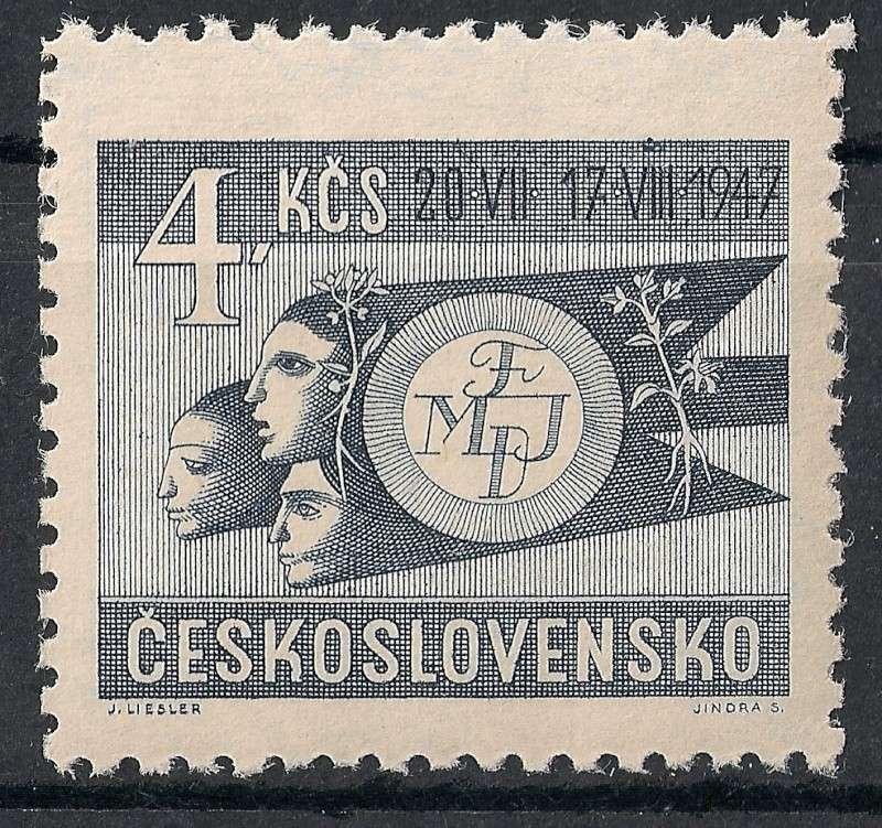 Tschechoslowakei - Briefmarkenausgaben 1947 Scann764