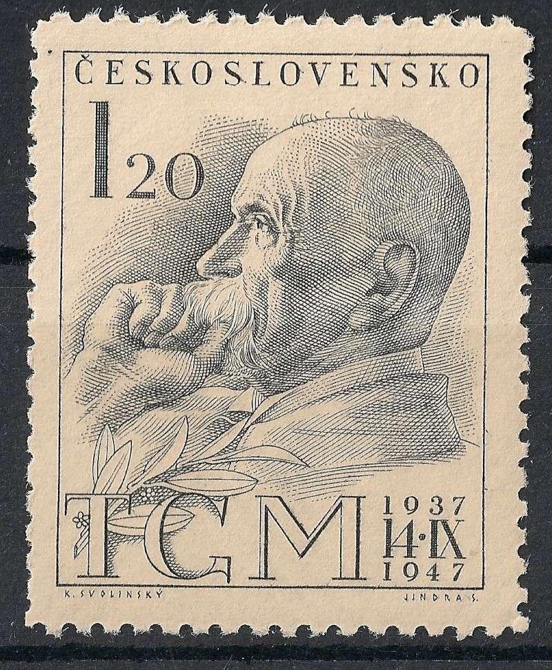 Tschechoslowakei - Briefmarkenausgaben 1947 Scann765