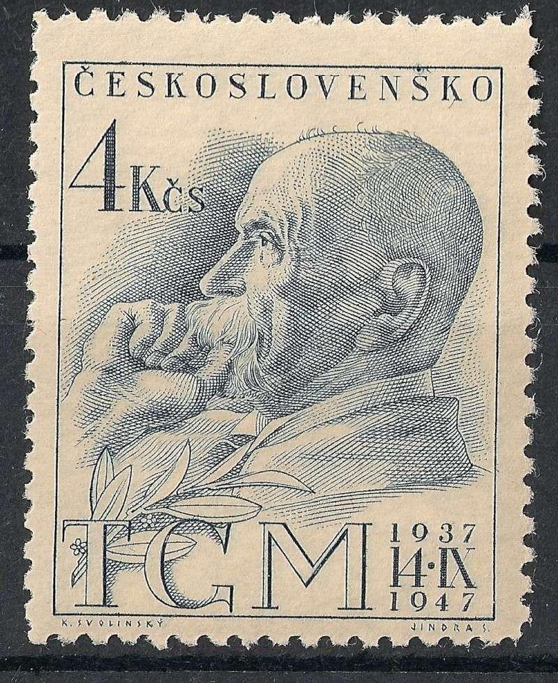 Tschechoslowakei - Briefmarkenausgaben 1947 Scann766