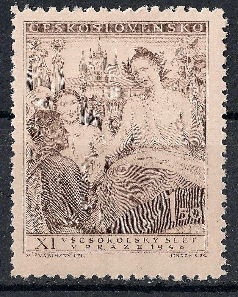 Tschechoslowakei - Briefmarkenausgaben 1948 Scann829