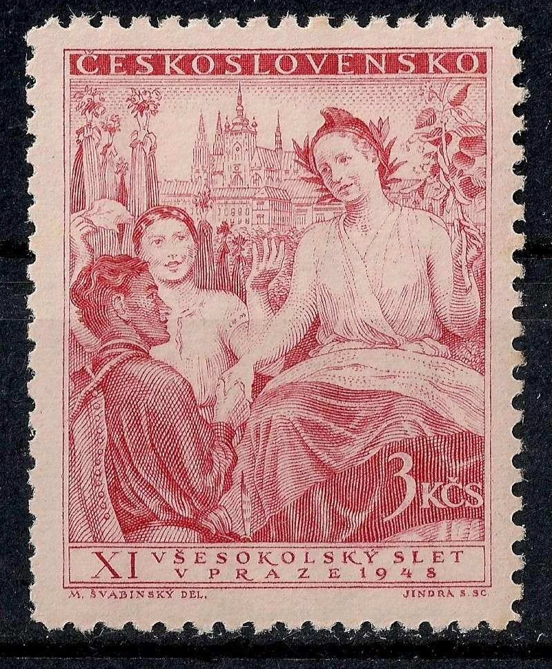 Tschechoslowakei - Briefmarkenausgaben 1948 Scann830