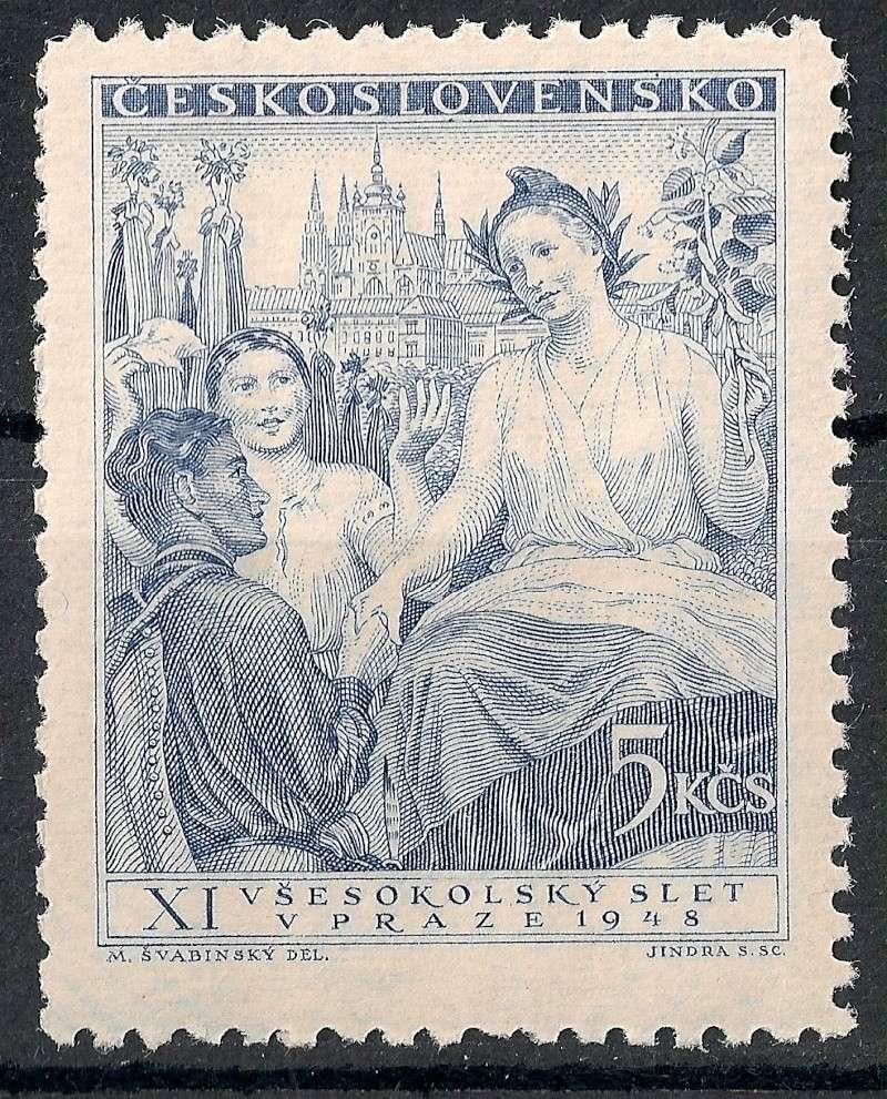 Tschechoslowakei - Briefmarkenausgaben 1948 Scann831