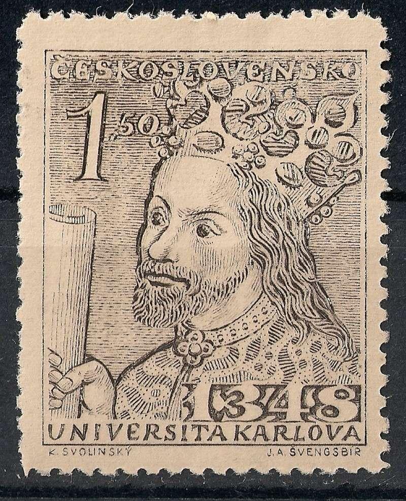 Tschechoslowakei - Briefmarkenausgaben 1948 Scann832