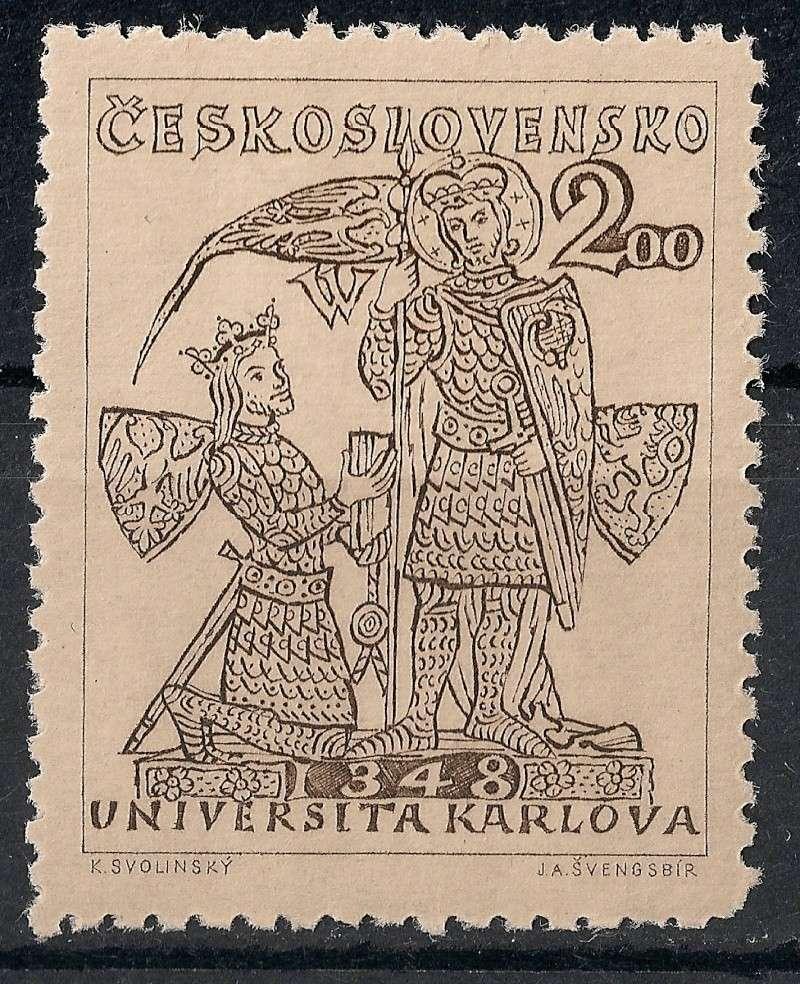 Tschechoslowakei - Briefmarkenausgaben 1948 Scann833