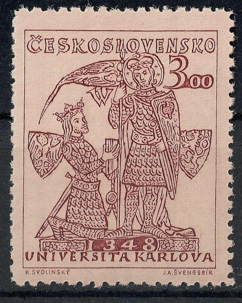 Tschechoslowakei - Briefmarkenausgaben 1948 Scann834