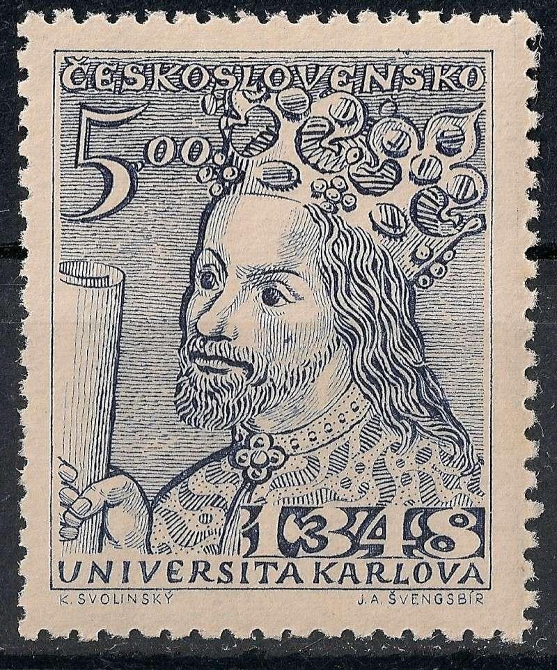 Tschechoslowakei - Briefmarkenausgaben 1948 Scann835